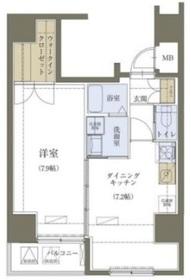 神田駅 徒歩4分5階Fの間取り画像