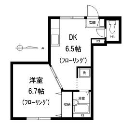 Fガーデン1階Fの間取り画像