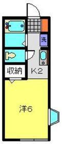 セジュール原2階Fの間取り画像