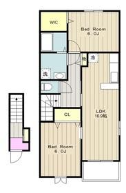 ラヴィーヌ2階Fの間取り画像