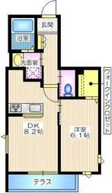 crest maison 横濱1階Fの間取り画像