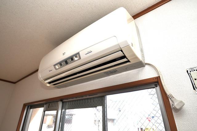 江口コーポ エアコンが最初からついているなんて、本当にうれしい限りです。