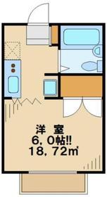 フラワーハイム1階Fの間取り画像