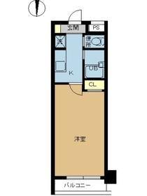 スカイコート銀座東第27階Fの間取り画像