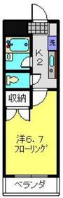 武蔵小杉駅 徒歩3分2階Fの間取り画像