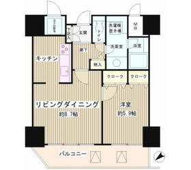 トレステージ目黒8階Fの間取り画像