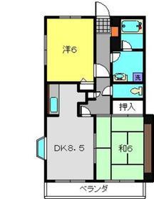日吉駅 徒歩18分6階Fの間取り画像
