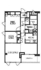 カーサビアンカ2階Fの間取り画像