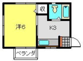 ハイツ貴志Part21階Fの間取り画像