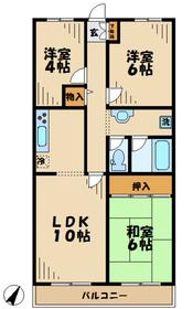 若葉台駅 徒歩8分4階Fの間取り画像