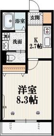レジデンス善福寺2階Fの間取り画像