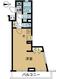スカイコート阿佐ヶ谷第54階Fの間取り画像