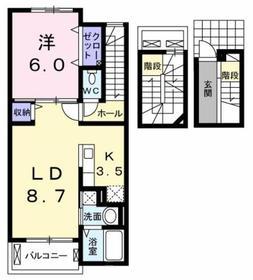 東大和市駅 徒歩22分3階Fの間取り画像