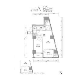 小石川富坂レジデンス12階Fの間取り画像