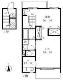 コート アルカディア2階Fの間取り画像