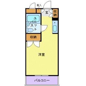 ユースピア大倉山3階Fの間取り画像