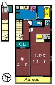 リヴェール B2階Fの間取り画像