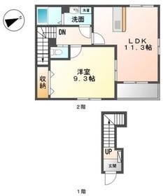 ラ・ジヴェルニー2階Fの間取り画像
