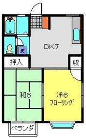 ハイム安井弐番館2階Fの間取り画像