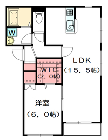 メゾンドヴァンヴェール1階Fの間取り画像