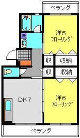 泉ハイツ2階Fの間取り画像