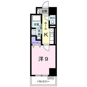 八王子駅 徒歩14分9階Fの間取り画像