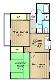 スターヒルズパートⅠ2階Fの間取り画像