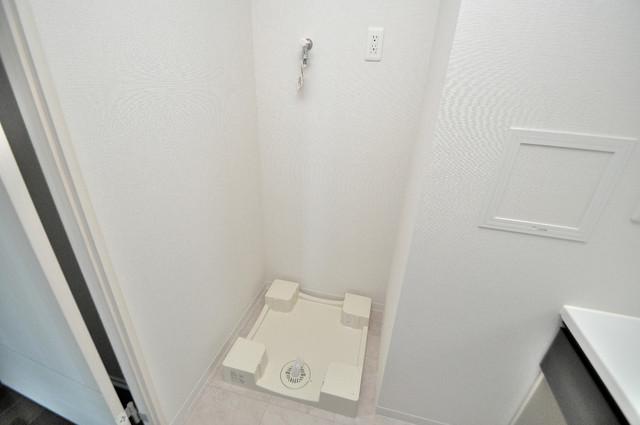 プレミアム菱屋西 嬉しい室内洗濯機置場。これで洗濯機も長持ちしますね。