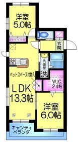 K's houseケーズハウス2階Fの間取り画像