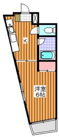 地下鉄成増駅 徒歩3分4階Fの間取り画像