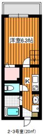 ヴィレッタ成増2階Fの間取り画像