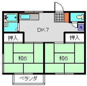 グリーンハイツC1階Fの間取り画像