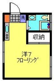 内山アパート1階Fの間取り画像