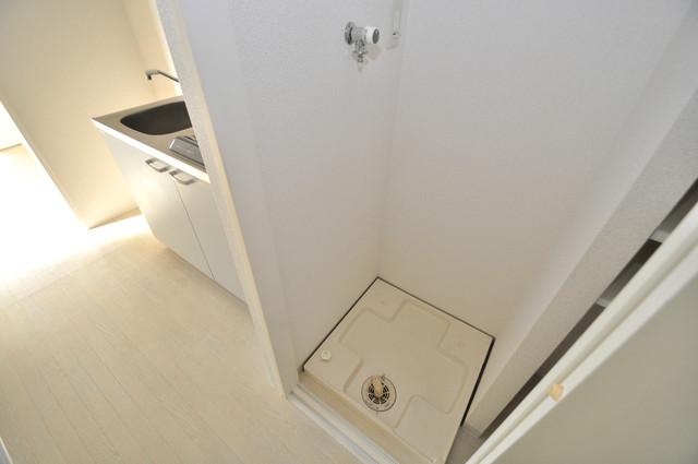 LA CASA 新深江 嬉しい室内洗濯機置場。これで洗濯機も長持ちしますね。