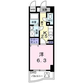 ケンオークニ6階Fの間取り画像