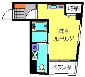 ミカローズ2階Fの間取り画像