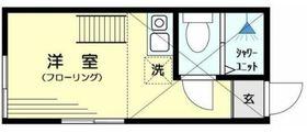 アーヴェル川崎1階Fの間取り画像