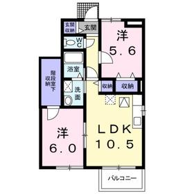 グランドシャリオⅠ1階Fの間取り画像