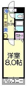 エステート東綾瀬1階Fの間取り画像