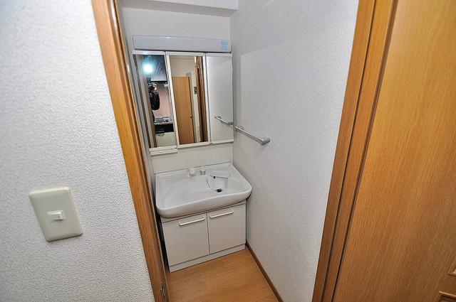 新深江池田マンション 豪華な洗面台はもちろんシャンプードレッサー完備です。