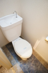 床材がお洒落なトイレ