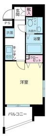 スカイコート新宿壱番館2階Fの間取り画像