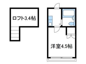 リシェス相武台2階Fの間取り画像