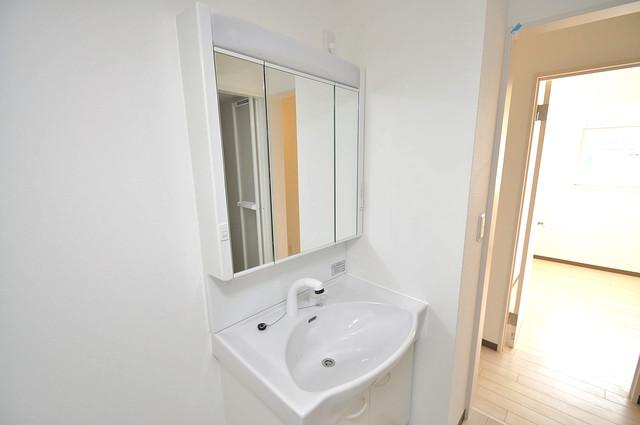 ラ・フォーレ久宝園 人気の独立洗面所にはうれしいシャンプードレッサー完備です。