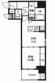 レクシード神田4階Fの間取り画像