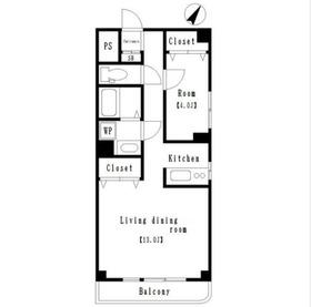 長谷川ビル4階Fの間取り画像