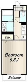 桜並木パークマンション2階Fの間取り画像