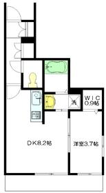 K'sメゾン1階Fの間取り画像