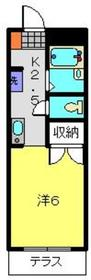アパートメント中島1階Fの間取り画像