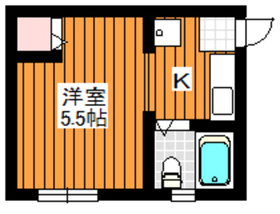 ハイツクレスト2階Fの間取り画像
